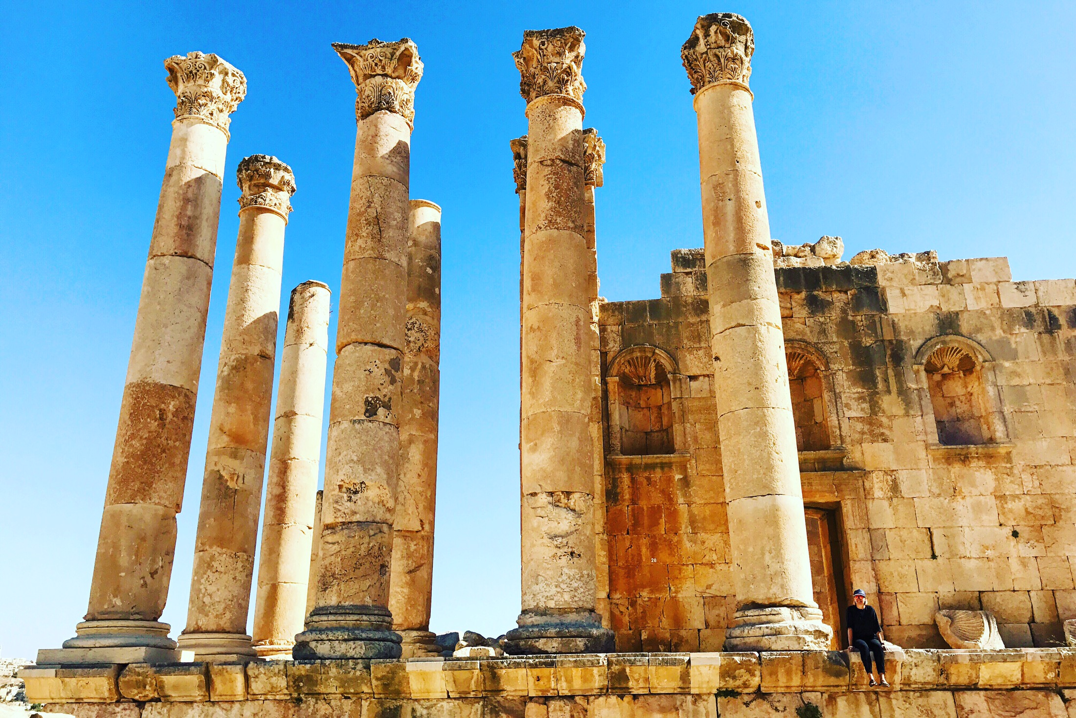 Visiting Roman Ruins In Jerash